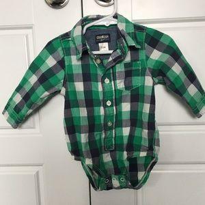 Green 12 month button up shirt